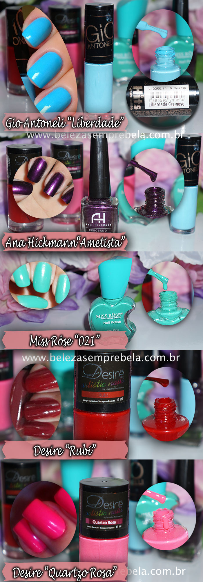 Top Five esmaltes favoritos