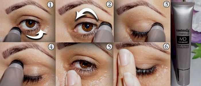 Sérum hidratante área dos olhos contem um grama 1g