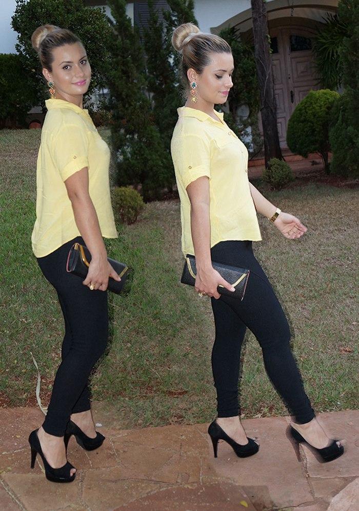 Look / Legging Montaria com Camisa.