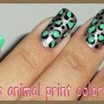 Nails animal print color com esmaltes esmaltes Ana Hickmann