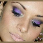 Tutorial em fotos: Pigmento Roxo Eyemei