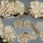 Diy- Acessórios De Cabelos Com Flor de cetim e Perolas