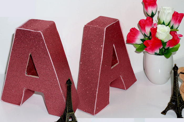 Diy Letras em 3D Decorativas e Floral